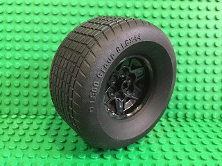 Wheel 43.2mm D. x 26mm with Tire 81.6 x 44 R (56908 / 18450)